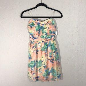 Trixxi NWT Floral Strapless Dress size 5